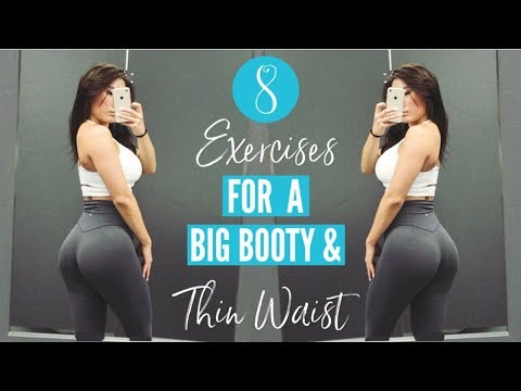 8 EXERCISES FOR BIG GLUTES & A THIN WAIST | Hourglass Figure Workout!