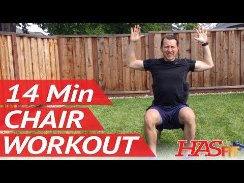 14 Min Chair Workout w/ Coach Kozak – HASfit Chair Exercises for Seniors & Seated Exercise