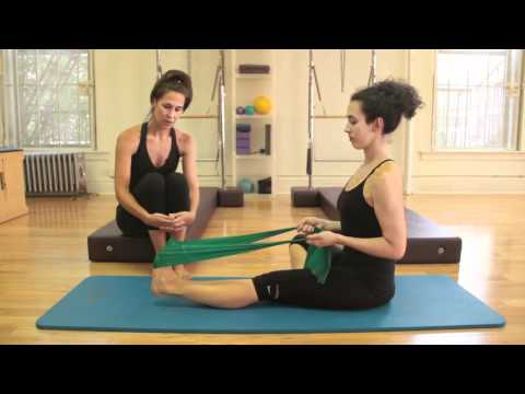 Pilates: Foot Exercises with Thera Band – Women's Fitness