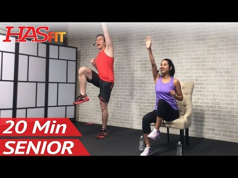 20 Min Exercise for Seniors, Elderly, & Older People – Seated Chair Exercise Senior Workout Routines
