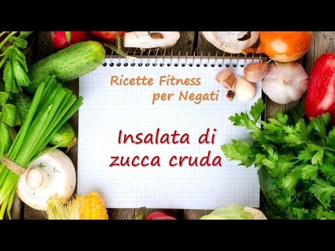 Insalata di Zucca Cruda / Pumpkin-Apple Salad Recipe / Fitness Recipes