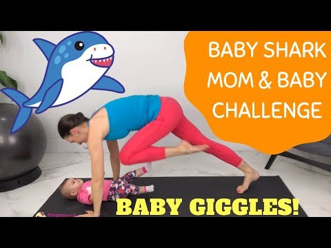 Baby Shark Mom and Baby Fitness Challenge