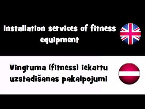 TRANSLATE IN 20 LANGUAGES = Installation services of fitness equipment