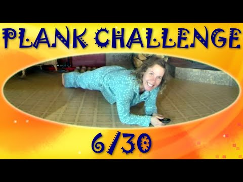 30 Day Pajama Plank Challenge – Beginner Plank Fitness Workout at Home – Day 6 of 30
