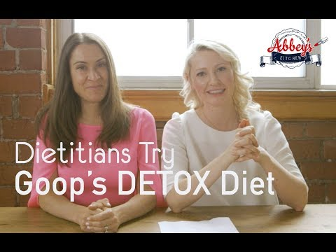 2 Dietitians Try GOOP'S Crazy DETOX DIET For One Day | Gwyneth Paltrow