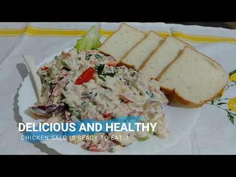 The BEST Chicken Salad Recipe: How To Make A Chicken Salad in 3 min/ After GYM- Workout Recipes