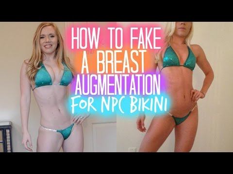 NPC BIKINI: How To Fake A Breast Augmentation For Bikini Competition