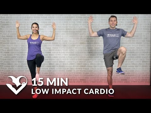 15 Minute Low Impact Cardio Workout for Beginners – Quiet 15 Min Standing Workout with No Jumping