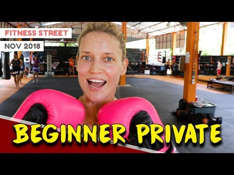 TRAINING AT TIGER MUAY THAI (BEGINNER PRIVATE) | FITNESS STREET VLOGS