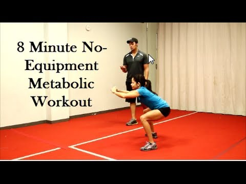8- Minute No Equipment Metabolic Workout (Total Body)
