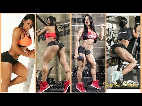 Caroline Solano: Female Fitness Model Gym Workout Routine
