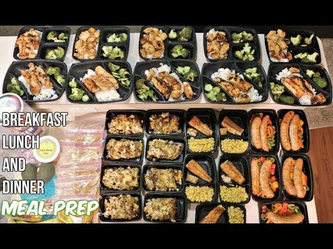 Meal Prep – Breakfast, Lunch and Dinner Meals – Groceries and Meals in the Description