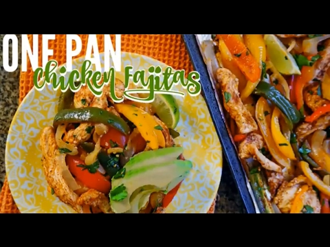 Healthy Chicken Fajitas Mexican Food Recipe | Natalie Jill