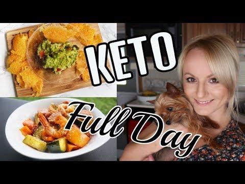 KETO WEIGHT LOSS 2018 FULL DAY OF EATING  | EASY SHRIMP RECIPE