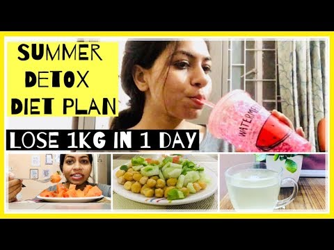 Lose 1kg in 1 day | Summer detox diet for weight loss | Detox Diet Plan 2019 | Azra Khan Fitness