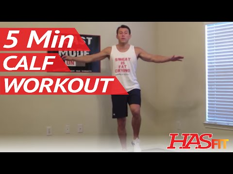 5 Minute Calf Workout at Home – HASfit Calves Exercise – Best Calf Exercises – Calves Workout