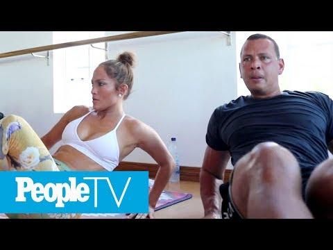 Jennifer Lopez & Alex Rodriguez Take You Inside Their Intense TruFusion Workout   PeopleTV