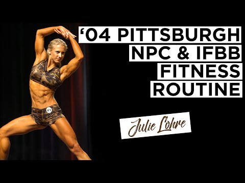 Throwback Competition Video NPC Fitness Routine from 2004 Julie Lohre
