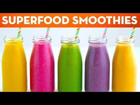 5 Superfood Healthy Smoothie Recipes For Breakfast Lunch & Dinner + ANNOUNCEMENT! – Mind Over Munch