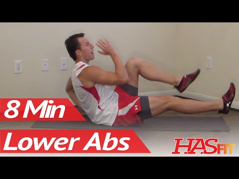 8 Minutes Lower Ab Workout – HASfit's Lower Abdominal Exercises – Work Out Lower Abs