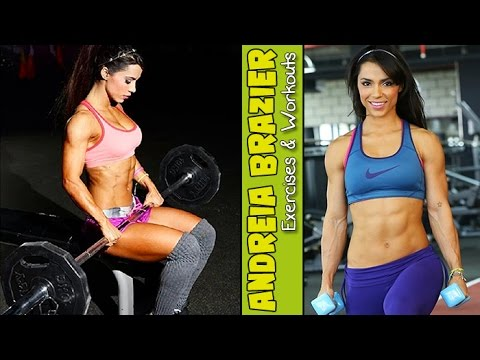 ANDREIA BRAZIER – 3X WBFF Fitness Model World Champion: Exercises and Workouts @ Brazil