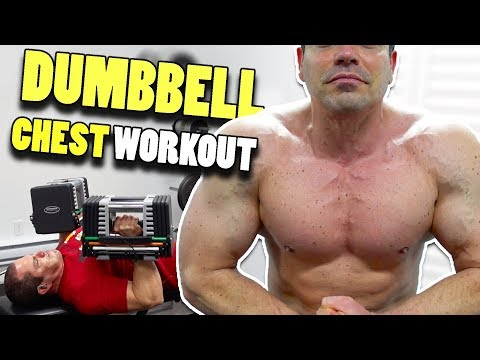 Home Gym Dumbbell Chest Workout – best exercises for chest at home