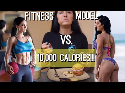 10K CALORIE CHALLENGE | GIRL VS. FOOD | Fitness Model & Subscribers raise $50,000