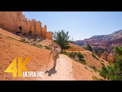 Amazing Bryce Canyon Virtual Hike – 4K Footage for Fitness Equipment/Training Simulators – 1.5 HRS