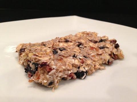 Blueberry Granola Bar Recipe – HASfit Homemade Protein Bar Recipes – Breakfast Bars – Energy Bar