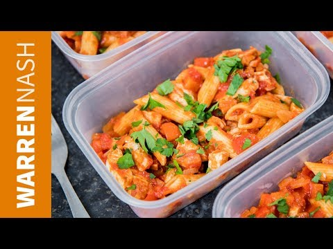 Chicken & Tomato Pasta Meal Prep – Tasty 321 Calorie Lunch – Recipes by Warren Nash