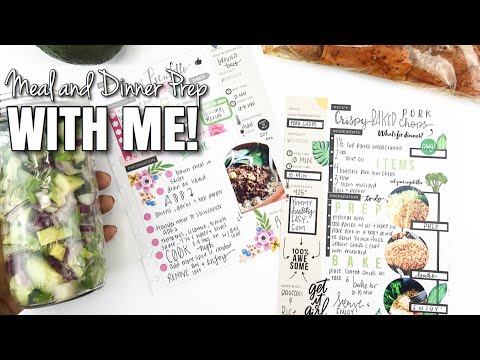 Meal and Dinner Prep With Me! Using Happy Planner Recipe Keeper! | At Home With Quita