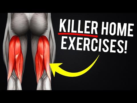 Hamstrings Workout At Home | 5 Killer Exercises For Bigger And Stronger Hamstrings