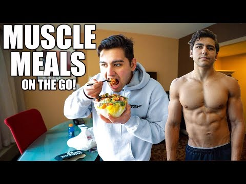 MUSCLE GAIN MEALS On The GO | Crazy Day In The Life