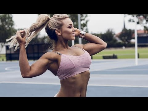 Sexy Fitness Model Super Hot & Strong Babe