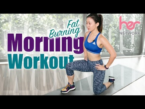 Beginner FAT Burning Morning Workout (Burn 300Cals in 15 Mins!) | Joanna Soh