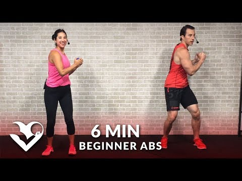 6 Minute Abs Workout for Beginners – Easy Beginner Ab Workout for Women & Men at Home