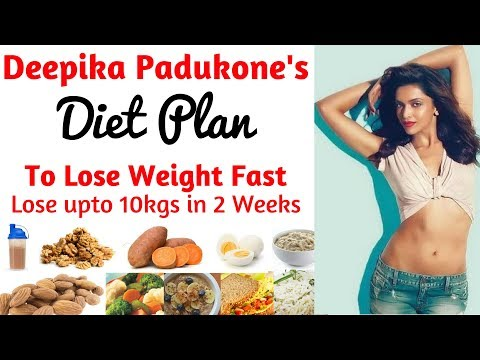 Deepika Padukone Diet Plan For Weight Loss हिंदी में| How to Lose Weight Fast 10kgs | Celebrity Diet