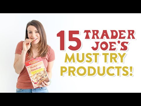 15 Trader Joe's MUST TRY Products | Grocery Haul