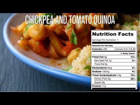 Healthy Chickpea and tomato Quinoa vegan recipe | Tasty | Weight Loss