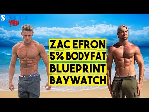 Zac Efron 5% BODY FAT! |  His 12 Week Workout Plan + MEAL by MEAL Diet! (BAYWATCH!)