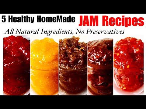 5 HomeMade Jam Recipes | How to make watermelon, mango, apple, berries and tomato jam at home