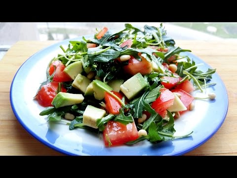 ФИТНЕС РЕЦЕПТЫ ☞ Салат с Авокадо и Рукколой    FITNESS ☞ RECIPES Salad with avocado and arugula
