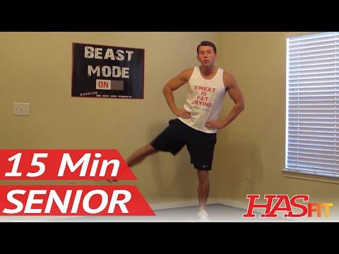 15 Minute Senior Workout – HASfit's Low Impact Workout – Senior Exercises – Exercise for Elderly