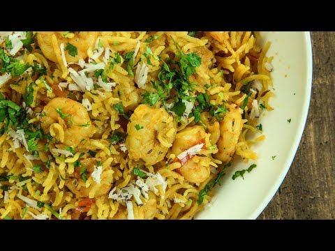 Prawns Pulao Recipe   How To Make Prawn Pulao   Shrimp Pulao   Jhinga Pulao   Recipe by Varun