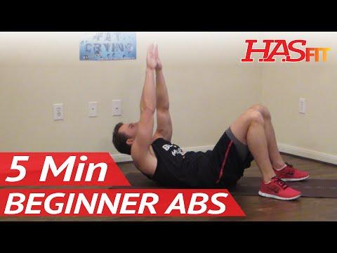 5 Min Beginner Ab Workout – HASfit Easy Abdominal Exercises – Easy Ab Workouts – Easy Abs Exercise