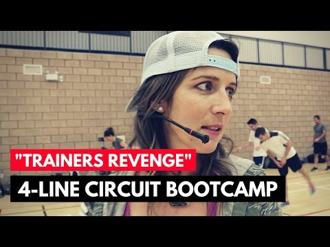 """Trainers Revenge"" 4-Line Circuit – Boot Camp Circuit Exercise Ideas"