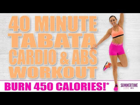40 Minute Tabata CARDIO AND ABS Workout 🔥Burn 450 Calories!* 🔥Sydney Cummings