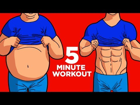 5 Exercises To Reduce Belly Fat – ONLY 5 MIN!