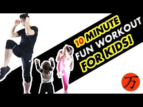 Kids fitness workout, just 10 minutes of fun exercise!