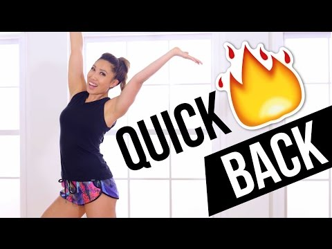 Quick Burn Standing Back Workout! No equipment, at home, back toning exercises!